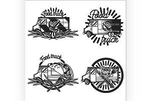 Vintage Food truck emblems