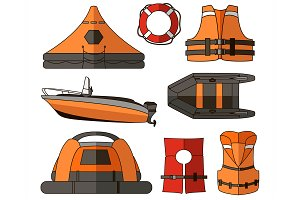 Water rescue set