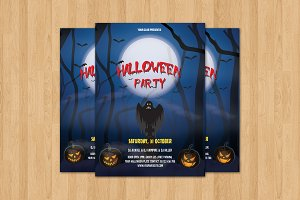 Halloween Party Flyer Template-V399