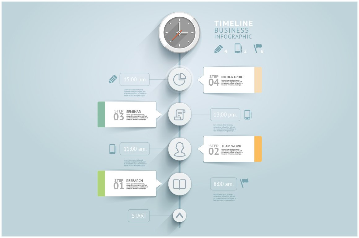 Timeline Infographic Template ~ Presentation Templates ...