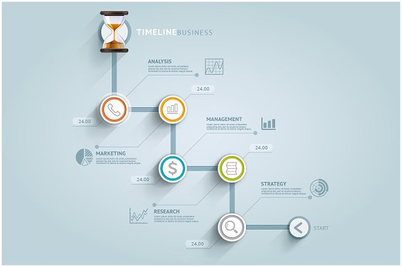 Business Timeline Infographics ~ Presentation Templates on ...
