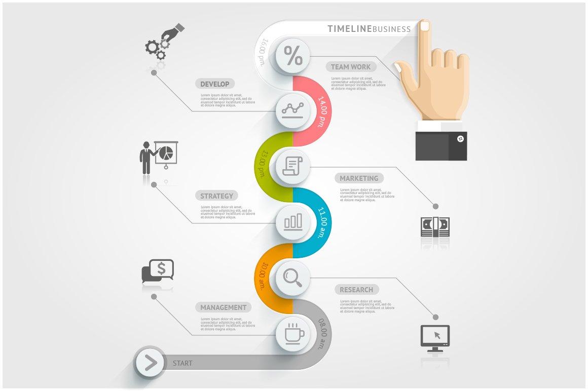 Business Timeline Infographics ~ Illustrations ~ Creative ...