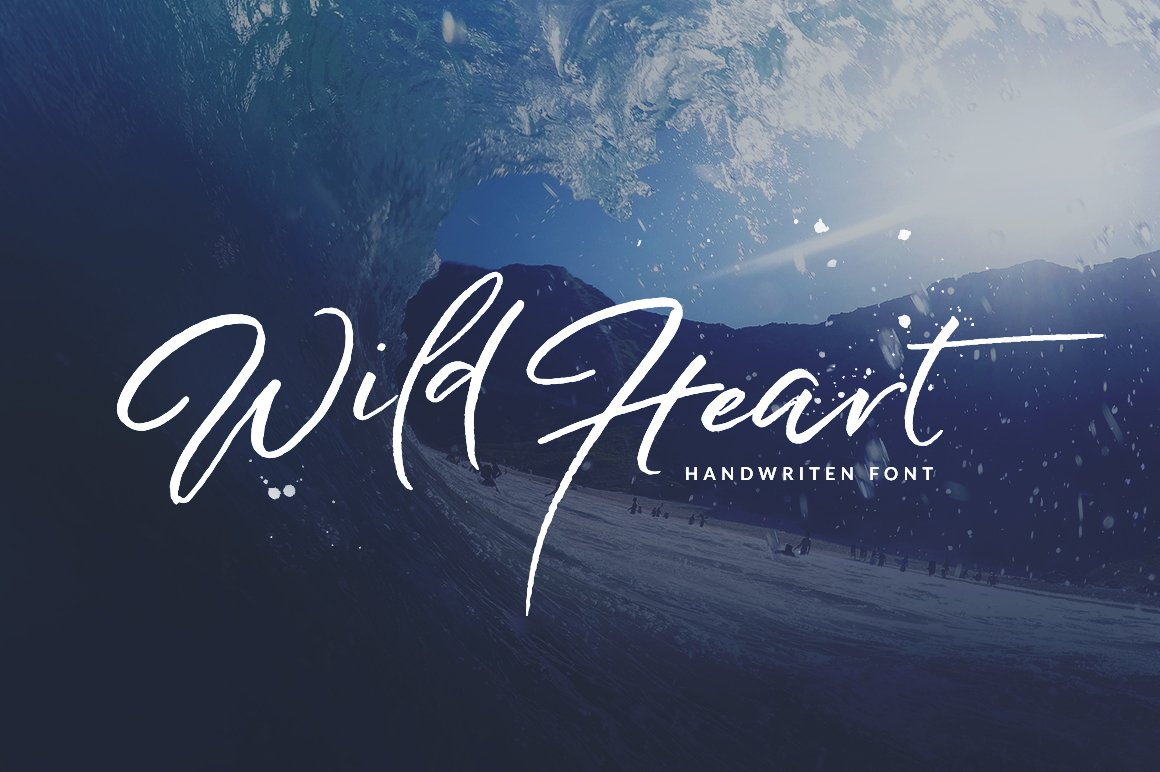 Wild Heart Brush Font Set 40 Off Script Fonts