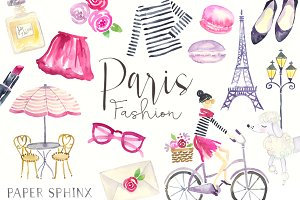 Watercolor Paris Fashion Pack