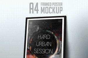 A4 Framed Poster Mockup