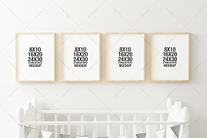 Nursery Frame Mockup Photos Graphics Fonts Themes Templates