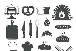 Bakery symbols vector