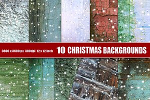 Christmas backgrounds snow red green