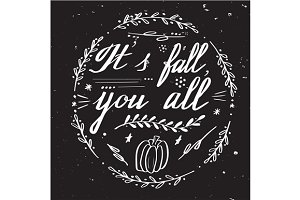 5 Autumn hand lettering designs