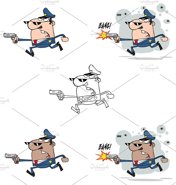 Police Man. Collection - Illustrations