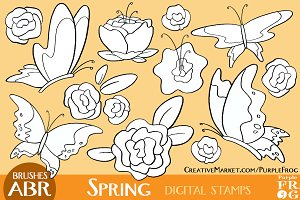 SPRING - Digital Stamps / Brushes