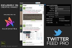 Twitter Feed PRO - Adobe Muse Widget