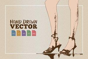 Sexy Legs in Heels Sketch