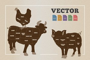 Poultry, Beef, Pork Infographic