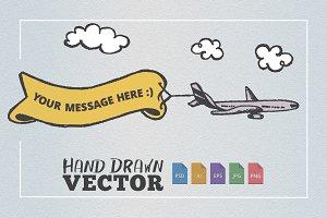 Airplane Banner Message Sketch