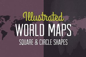 Textured World Maps