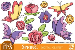 VECTOR - SPRING - Digital Clipart