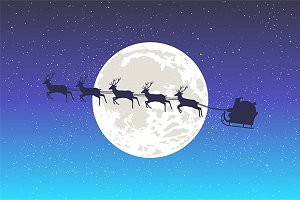 Santa And The Moon