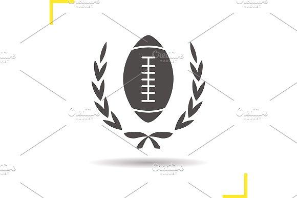 American football ball icon. Vector - Icons