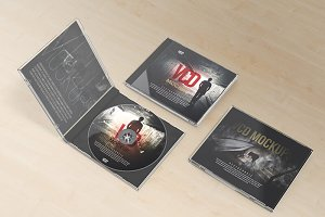 VCD Jewel Case Mockups