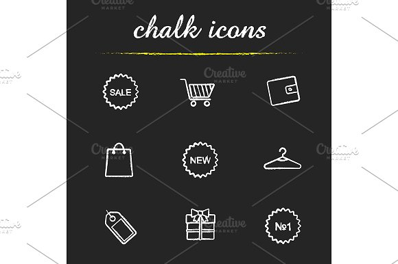 Shopping. 9 icons. Vector - Icons