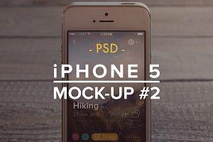 iPhone 5 PSD Mockup #2