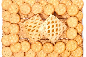 Wheat biscuits background