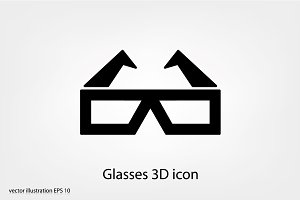 Glasses 3D icon