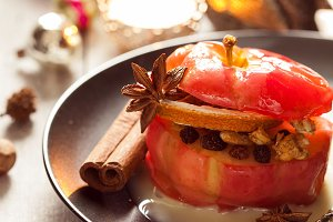 Red baked apple