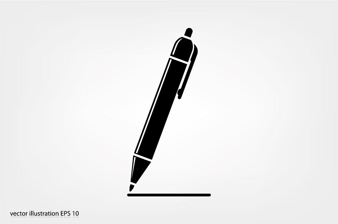 pen icon pre designed illustrator graphics creative market pen icon