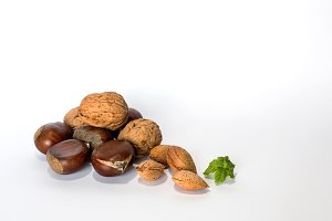 nuts mix isolated