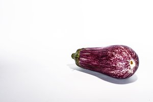 Eggplant isolated on white