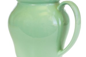 Green jug isolated