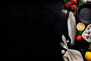 Frame of vegetables, healthy concept