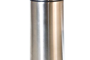 Single metallic thermos isolated