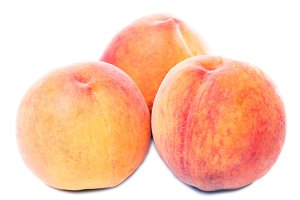 sweet juicy peaches isolated