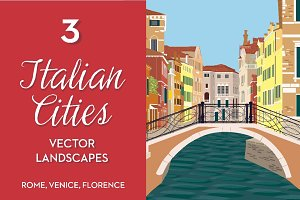Italian cities vector landscapes