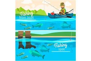 Fishing banners