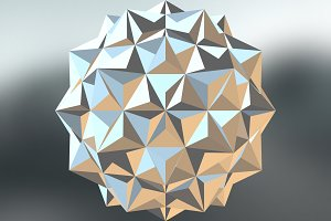Polyhedron in Environment 3D Render