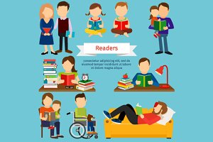 Group of readers