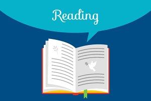 Reading book concept
