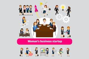 Woman business networking