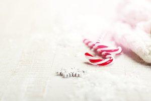 Candy cane, christmas concept