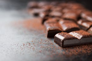 Closeup of chocolate, sweet concept
