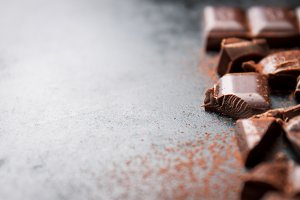 Closeup of chocolate, sweet concept