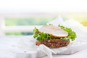 Closeup of sandwich, food concept