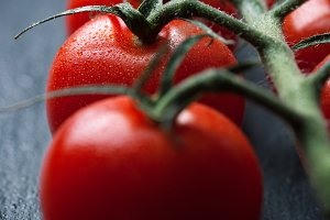 Closeup of tomatoes, healthy concept