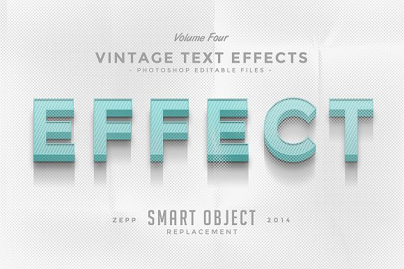 Vintage Text Effects Vol.4 - Add-Ons