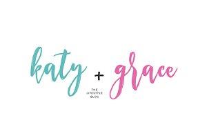Katy + Grace Premade Logo