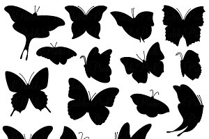 Butterfly Silhouette Clipart/Vectors